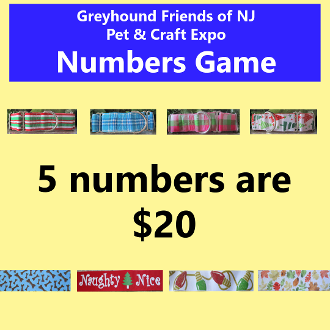 $20 Pet & Craft Expo Numbers Game - 5 Numbers